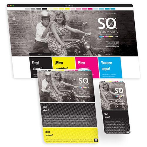 Imprenta soroxarta pagina web en Irun